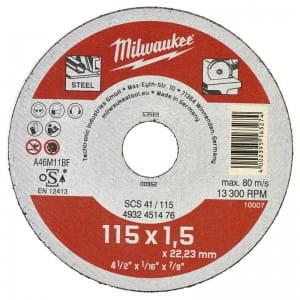 Отрезной диск по металлу Milwaukee SCS 41 / 115 x 1.5 x 22 мм (1шт)