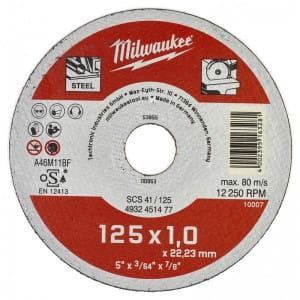 Отрезной диск по металлу Milwaukee SCS 41 / 125 x 1 x 22 мм (200шт)