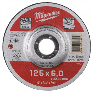 Шлифовальный диск по металлу Milwaukee SG 27 / 125 x 6 x 22 мм (1шт)