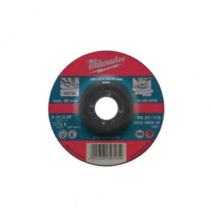 Шлифовальный диск по металлу Milwaukee SG 27 / 180 x 6 мм (10шт)