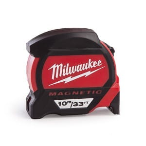"Рулетка магнитная Milwaukee Premium 10м/33"" x 27 мм"