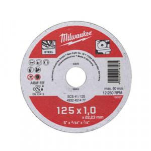 Отрезной диск по металлу Milwaukee Pro+ SCS 41 / 125 x 1 x 22.2 мм (10шт)