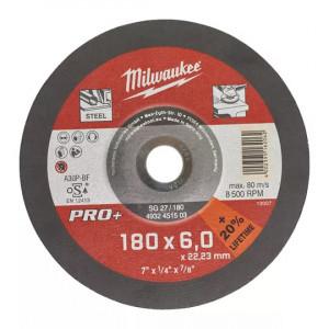 Шлифовальный диск по металлу Milwaukee SG 27 / 180 х 6 PRO+ (1шт)