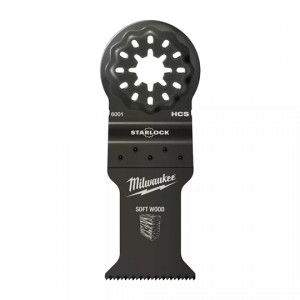 Полотно биметаллическое по дереву Milwaukee StarLock 35х42 мм с 3 режущими кромками (1шт)