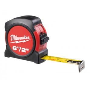 Рулетка метрическая без магнитная Milwaukee 2 м (1шт)