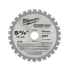 Диск для циркулярных пил по металлу Milwaukee F 135 x 20 x 30 мм (1шт)