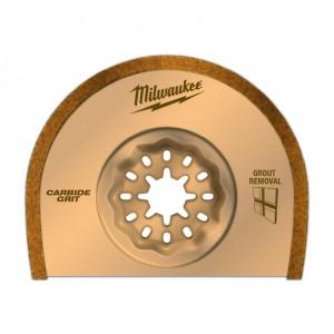 Полотно с твердосплавным зернистым напылением Milwaukee StarLock 2,2 мм (1шт)