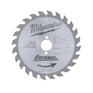 Диск для циркулярных пил по дереву Milwaukee WCSB 190 x 30 x 24 (1шт)