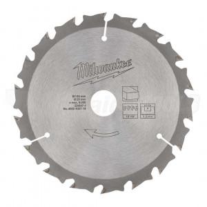 Диск для аккумуляторной циркулярной пилыMilwaukee WNF 140 x 20 x 18 мм (1шт) замена 4932471310