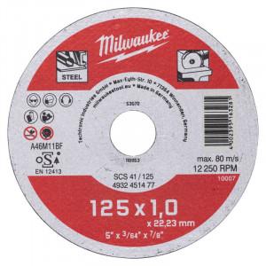 Отрезной диск по металлу Milwaukee SCS 41 / 125 x 1 x 22 мм (1шт)