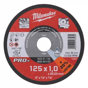 Отрезной диск по металлу PRO+ Milwaukee SC 41 / 125 x 1x 22.2мм (1шт)