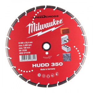 Алмазный диск Milwaukee HUDD 350мм