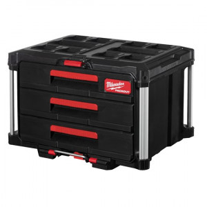 Ящик с 3-мя выдвижными отсеками Milwaukee PACKOUT DRAWER BOX
