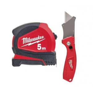 Набор Milwaukee рулетка C5/19 5м/19мм, многофункциональный нож Fastback Compact