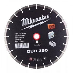 Алмазный диск Milwaukee DUH 350 мм (1шт)