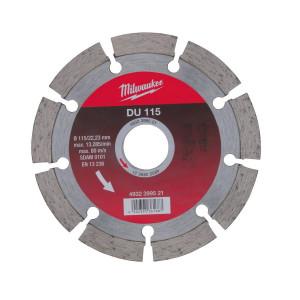 Алмазный диск Milwaukee DU 115 мм (1шт)