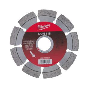Алмазный диск Milwaukee DUH 115 мм (1шт)