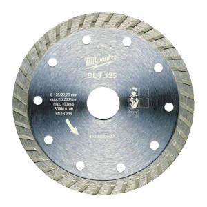 Алмазный диск Milwaukee DUT 125 мм (1шт) Turbo