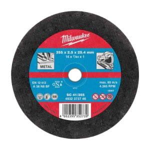 Отрезной диск по металлу Milwaukee SC 41 / 355 x 2.5 x 25 мм (10шт) 4932373734 (4932451505)