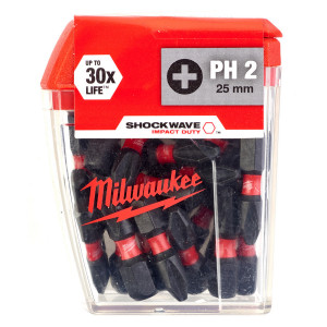 Бита Milwaukee Shockwave Impact Duty PH2 x 25 мм (25 шт)