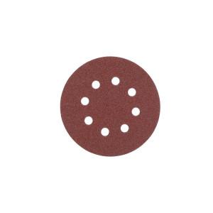 Шлифовальный круг Milwaukee 8 отверстий 125 мм/ зерно 60 (5шт)