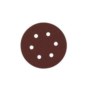 Шлифовальный круг Milwaukee 6 отверстий 150 мм/ зерно 80 (25шт)