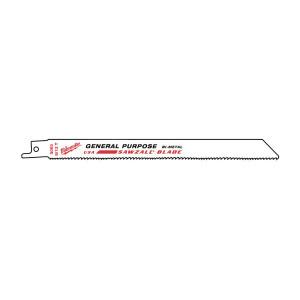 Полотно универсальное Milwaukee 200 х 10/14 мм/ шаг зуба 2.5/1.8 мм (5шт)