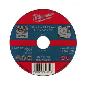 Отрезной диск по металлу Milwaukee SC 41 / 125 x 3 x 22.2 мм (1шт)