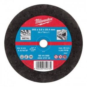 Отрезной диск по металлу Milwaukee SC 41 / 355 х 2.5 мм (1шт) 4932451505 (4932373734)
