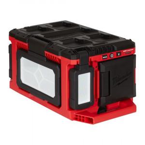 Аккумуляторный фонарь с функцией зарядного устройства Milwaukee PACKOUT M18 POALC-0