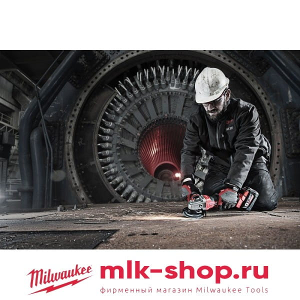 Аккумуляторная угловая шлифовальная машина (УШМ, Болгарка) Milwaukee M18 FUEL CAG125XPDB-902X