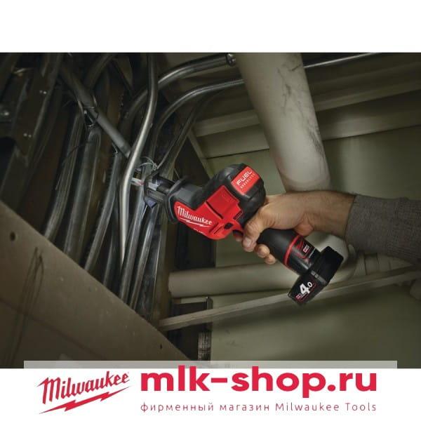 Аккумуляторная сабельная пила Milwaukee M12 FUEL CHZ-0