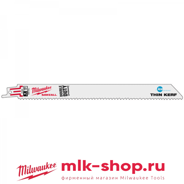 Полотно Milwaukee Thin Kerf S1122EF 230 x 18мм/ шаг зуба 1.4мм Ice Edge (5шт) + набор отверток магнитных в подарок!