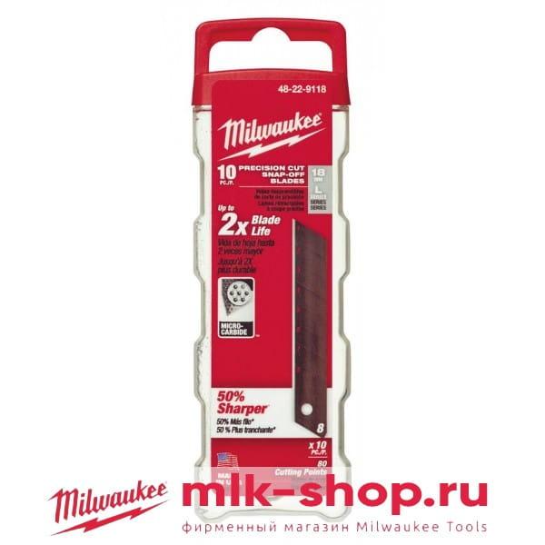 Запасное лезвие Milwaukee 18 мм (10шт)