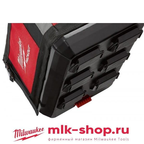Сумка Milwaukee PACKOUT 40 см + компактный тонкий органайзер PACKOUT в подарок!
