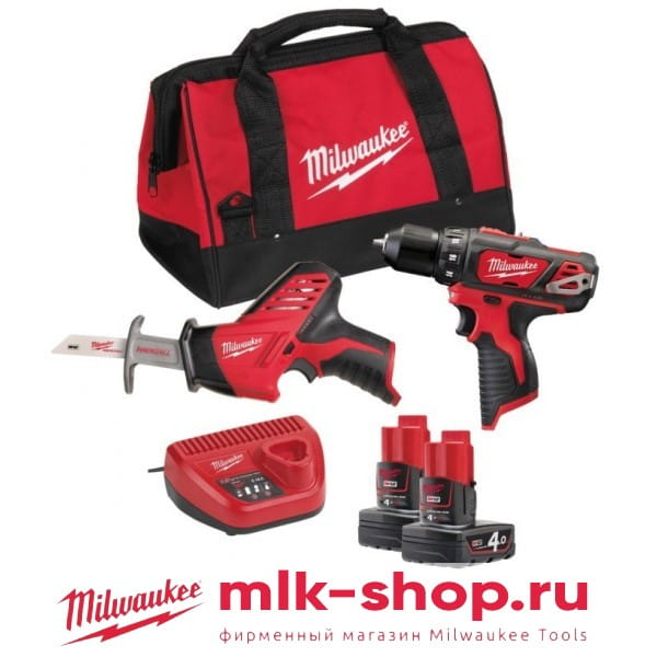 Набор инструментов Milwaukee М12 ВPP2В-402В