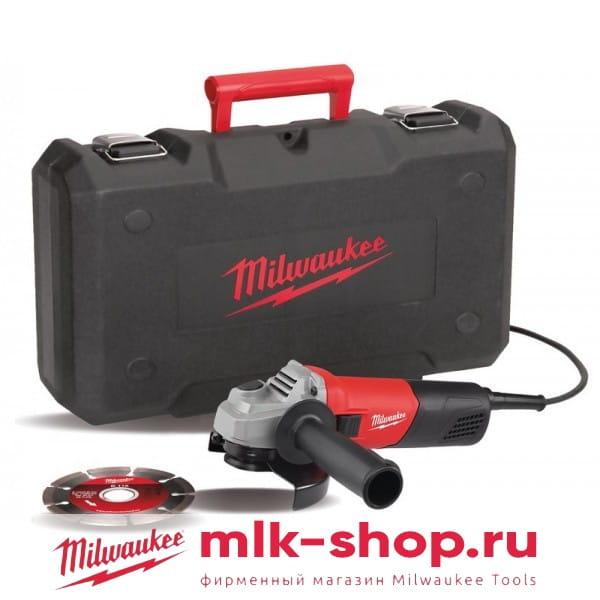 Угловая шлифовальная машина (УШМ, Болгарка) Milwaukee AG 800-115 E D-SET