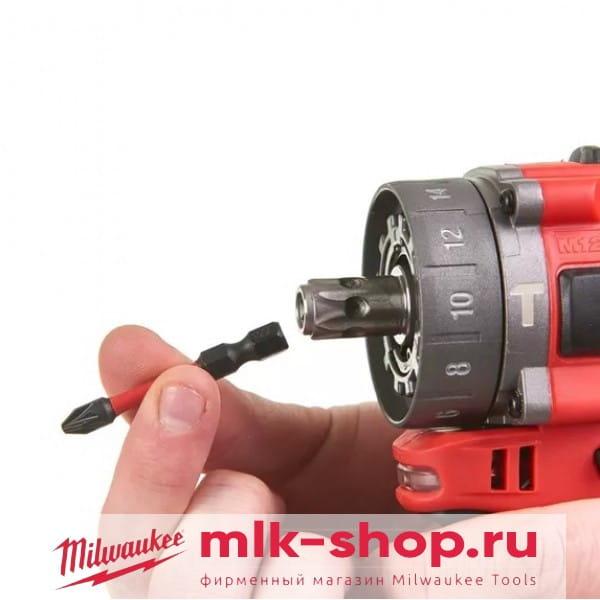 Аккумуляторная ударная дрель субкомпактная Milwaukee M12 FUEL FPDXKIT-202X