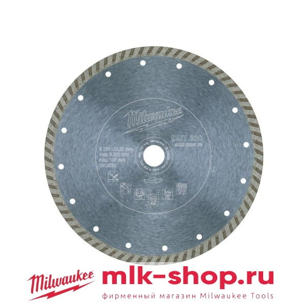 Алмазный диск Milwaukee DUT 230 мм (1шт)