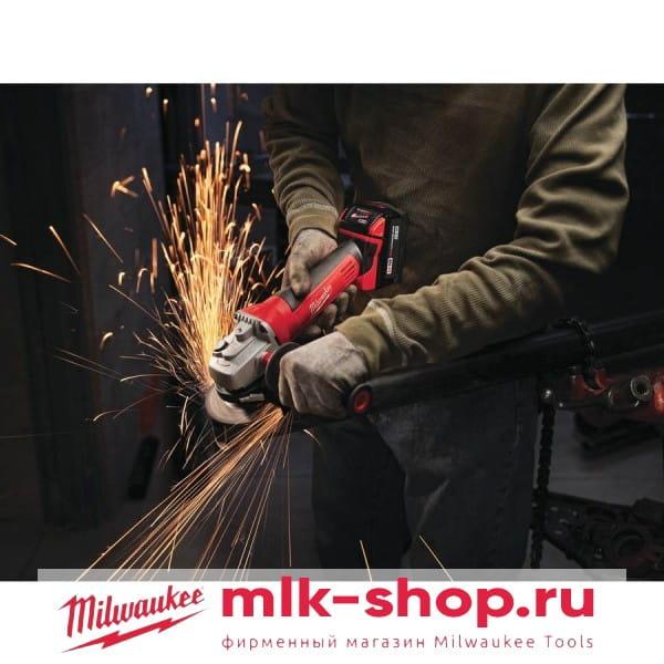 Аккумуляторная угловая шлифовальная машина (УШМ, Болгарка) Milwaukee HD18 AG-125-402C