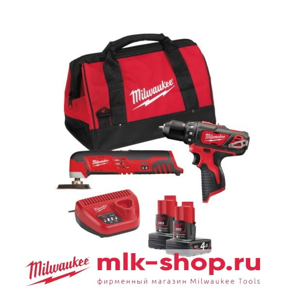 Набор инструментов Milwaukee М12 ВPP2D-402B