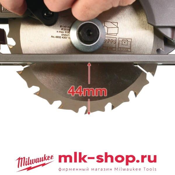 Аккумуляторная циркулярная пила Milwaukee M12 FUEL CCS44-402C