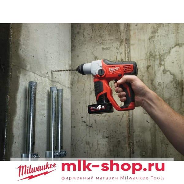 Аккумуляторный перфоратор Milwaukee M12 H-0