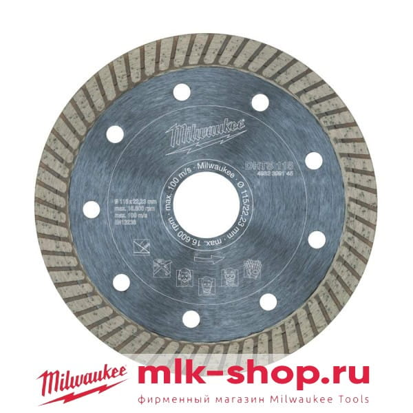 Алмазный диск Milwaukee DHTS 115 мм (1шт)