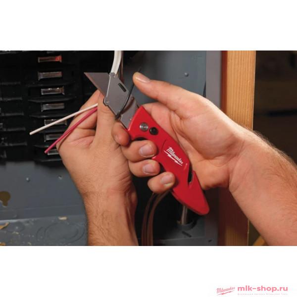 Выкидной многофункциональный нож с отверстием для хранения лезвий Milwaukee FASTBACK