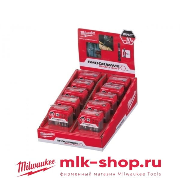 Биты для шуруповерта Milwaukee Shockwave TX25 х 50 мм (10x10шт)