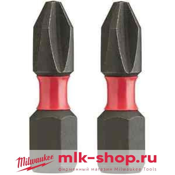 Бита Milwaukee Shockwave Impact Duty PH1 x 25 мм (2шт)